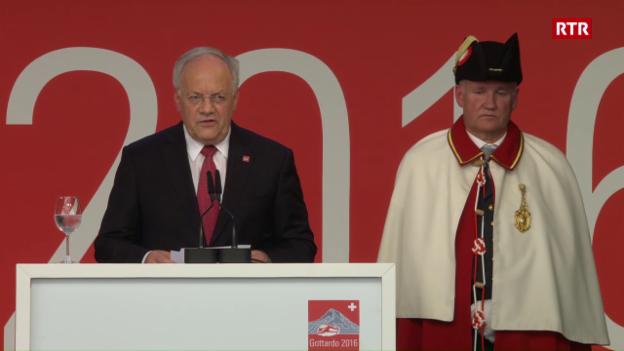 Laschar ir video «Il pled dal president da la Confederaziun Johann Schneider-Ammann»