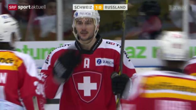 Video «Eishockey: Testspiel Schweiz - Russland» abspielen