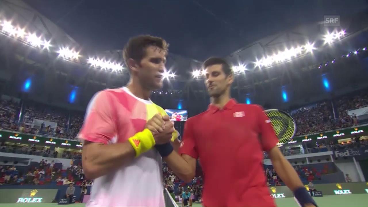 Djokovic zittert gegen Mischa Zverev (sntv)