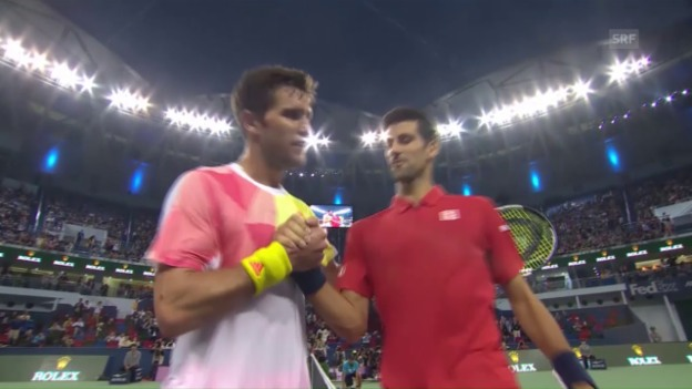 Video «Djokovic zittert gegen Mischa Zverev (sntv)» abspielen
