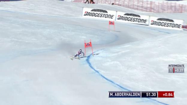 Video «Ski alpin: Weltcup der Frauen, Abfahrt in St. Moritz, Marianne Abderhalden» abspielen