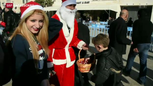 Video «Weihnachtsmesse in Bethlehem» abspielen