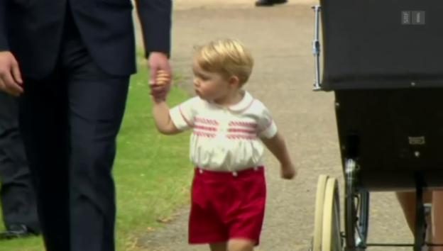 Video «Alle wollen Prinz George sehen» abspielen