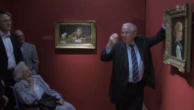 Video «Im Museum: Christoph Blocher führt durch seine Ausstellung» abspielen