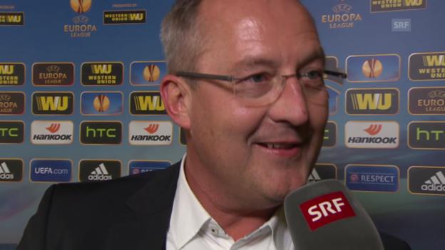 Video «Fussball: Europa League, Interview mit YB-Sportchef Fredy Bickel» abspielen