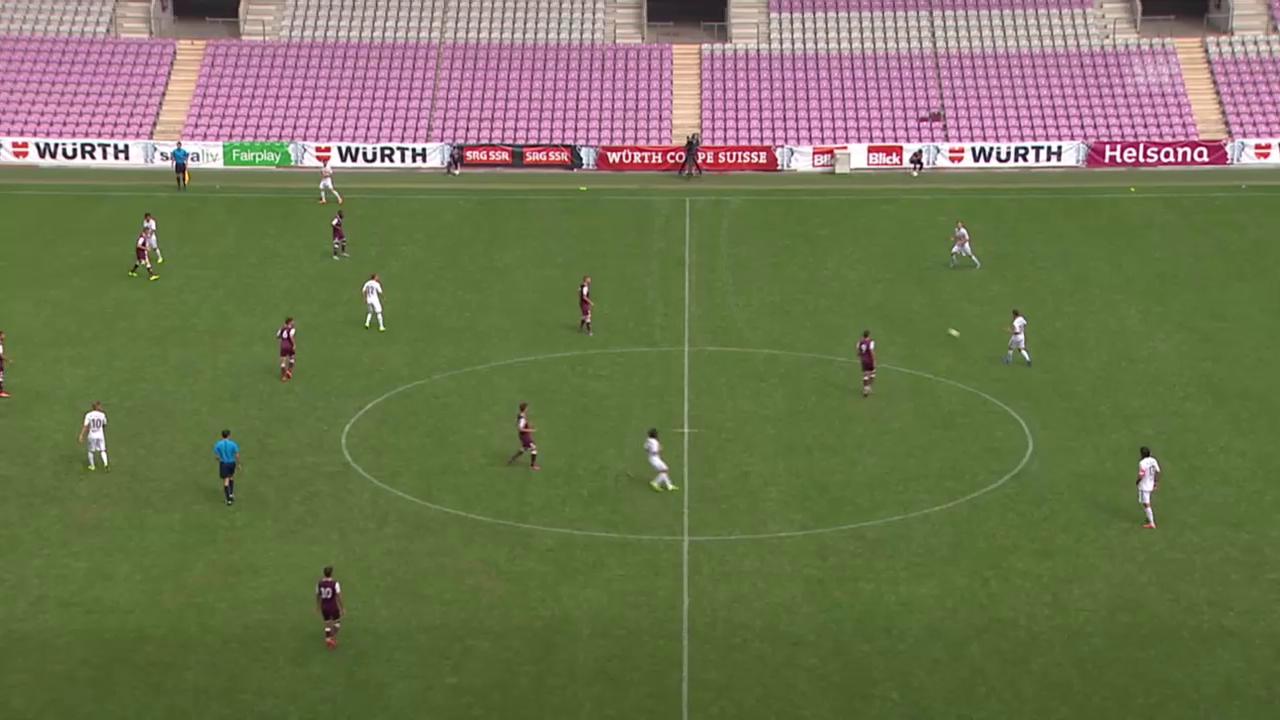 Fussball: Schweizer Cup, 1. Runde: Servette - Luzern, Tor Luzern 0:2