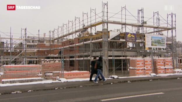 Video «Linke fordert Massnahmen gegen steigende Mietpreise («Tagesschau», 17.01.2013)» abspielen