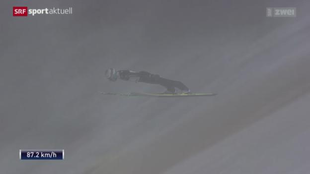 Video «Skispringen: Weltcup Kuusamo, Sieg Simon Ammann» abspielen