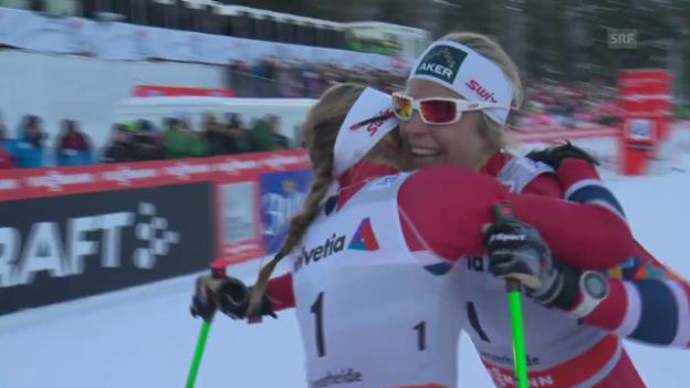 Video «Langlauf, Weltcup Lenzerheide, Sprint-Final der Frauen» abspielen