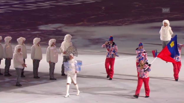 Video «Sotschi: Eröffnungsfeier, Einmarsch Liechtenstein («Sotschi direkt», 07.02.14)»» abspielen