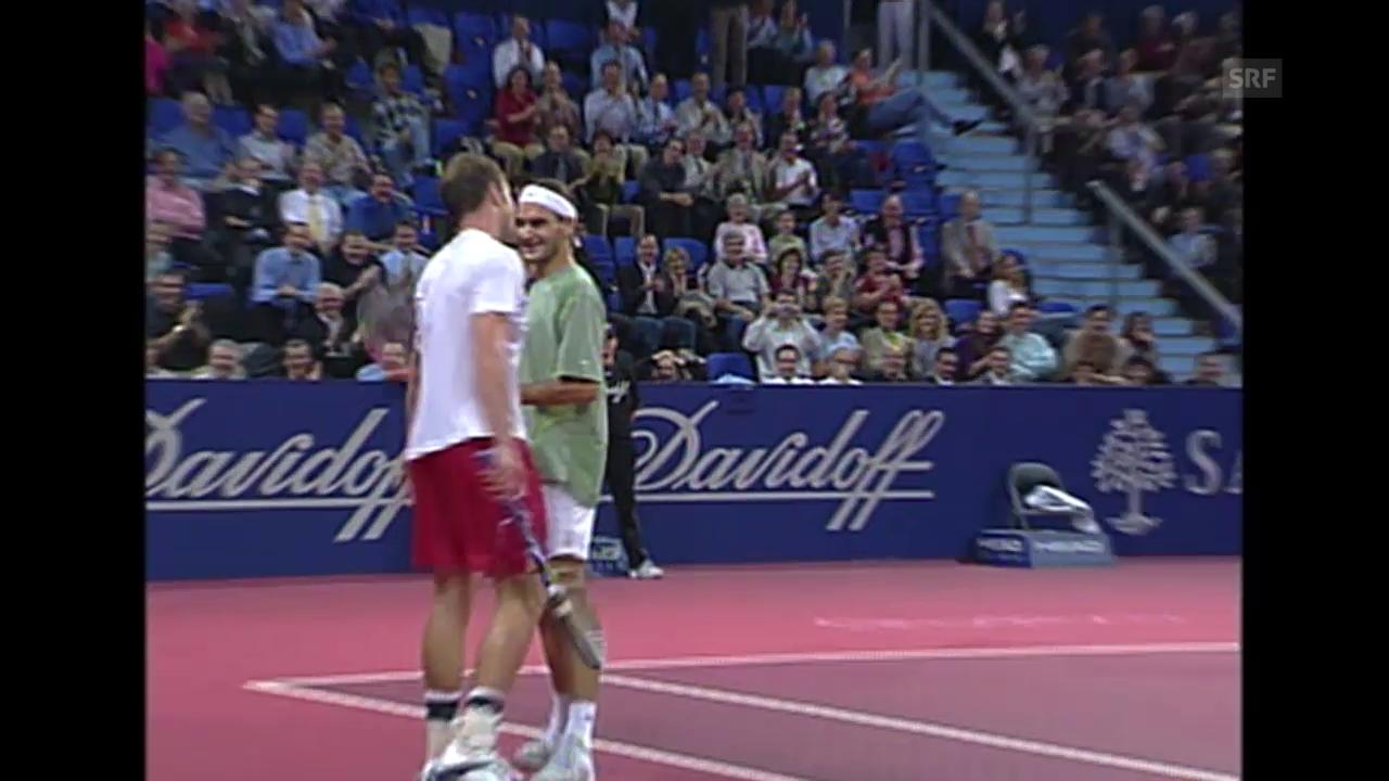 Tennis: Swiss Indoors, Zauberschlag Federer 2002