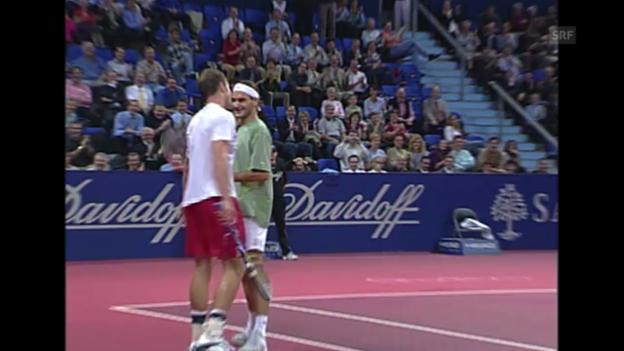 Video «Tennis: Swiss Indoors, Zauberschlag Federer 2002» abspielen