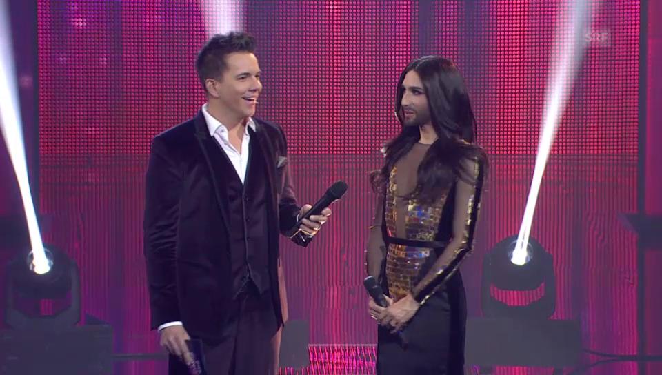 Conchita Wurst an der Schweizer ESC-Entscheidungsshow