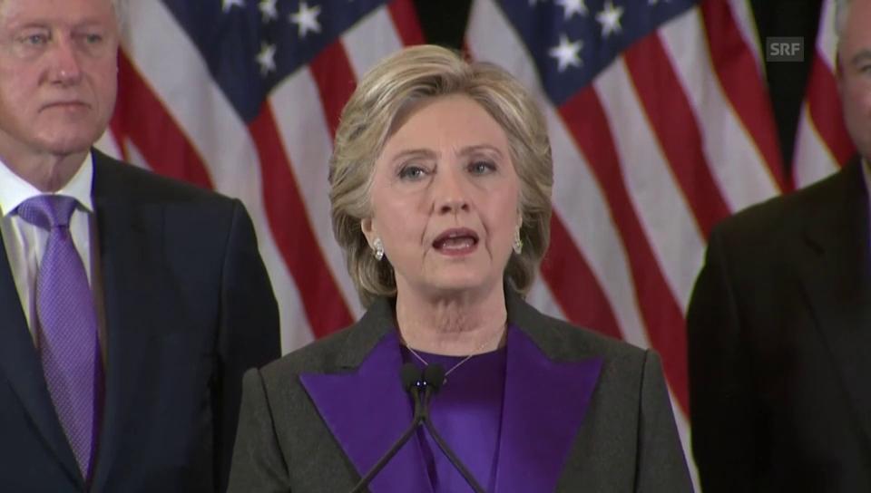 Clinton über ein vereintes Amerika