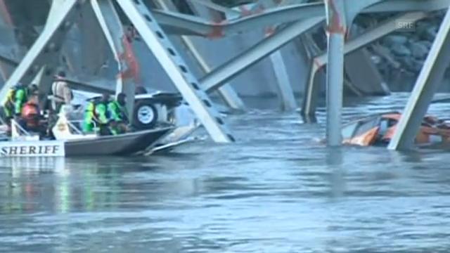Brückeneinsturz: Retter suchen nach möglichen Opfern (unkommentiert)