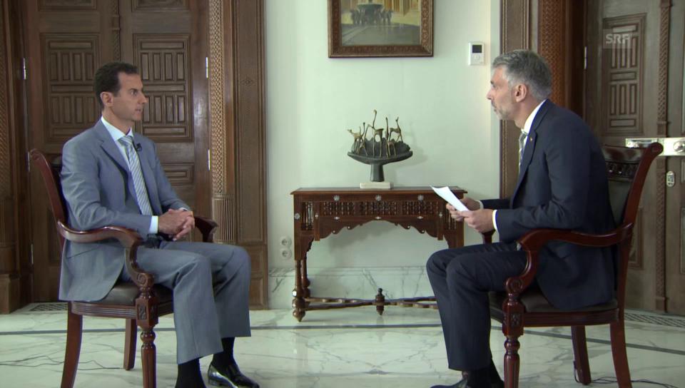 Syriens Machthaber Assad im Interview (Ausschnitt)