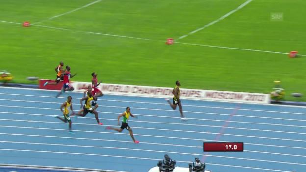 Video «Bolts WM-Gold über 200 m 2013 in Moskau» abspielen