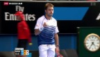 Video «Stan Wawrinka in Melbourne im Viertelfinal» abspielen