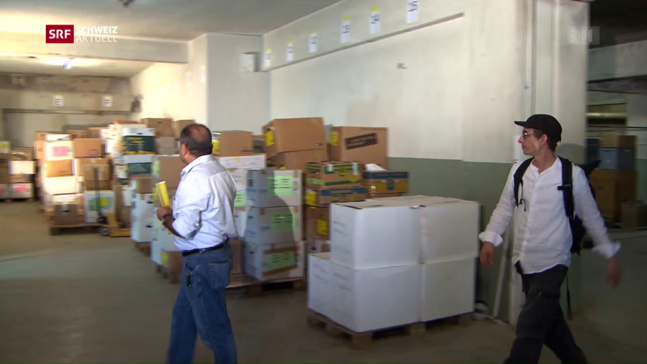 Hunderte Kisten sollen nach Aleppo