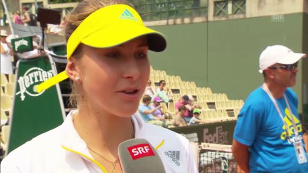Video «Tennis: Belinda Bencic im Interview» abspielen