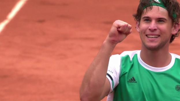 Video «Thiem eliminiert Djokovic in 3 Sätzen» abspielen