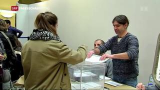Video «Katalanen wählen neues Parlament» abspielen