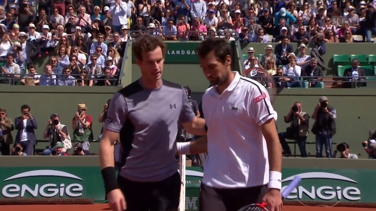 Tennis: French Open, Murray-Chardy, Matchball
