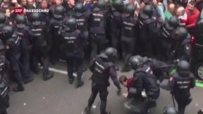 Video «Gewalt in Katalonien» abspielen