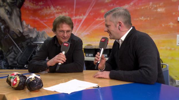 Video «Eishockey: Spengler Cup, Gespräch mit Arno del Curto, Teil II» abspielen