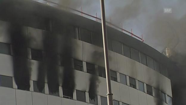 Video «Brand in Radiogebäude (unkomm.)» abspielen