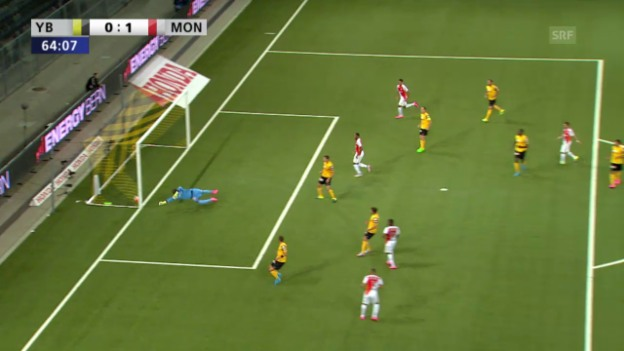 Video «Fussball: Champions-League-Qualifikation, Hinspiel, YB - Monaco, 1:0 durch Kurzawa» abspielen