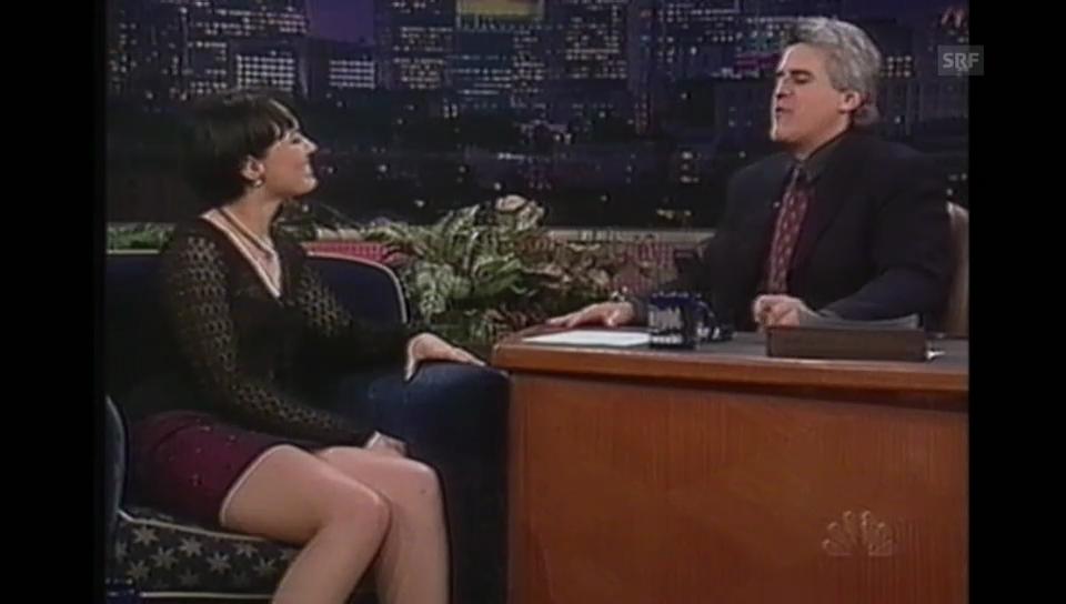 Martina Hingis tritt in der Talk-Show von Jay Leno auf (aus «Time Out» 9.3.1998)