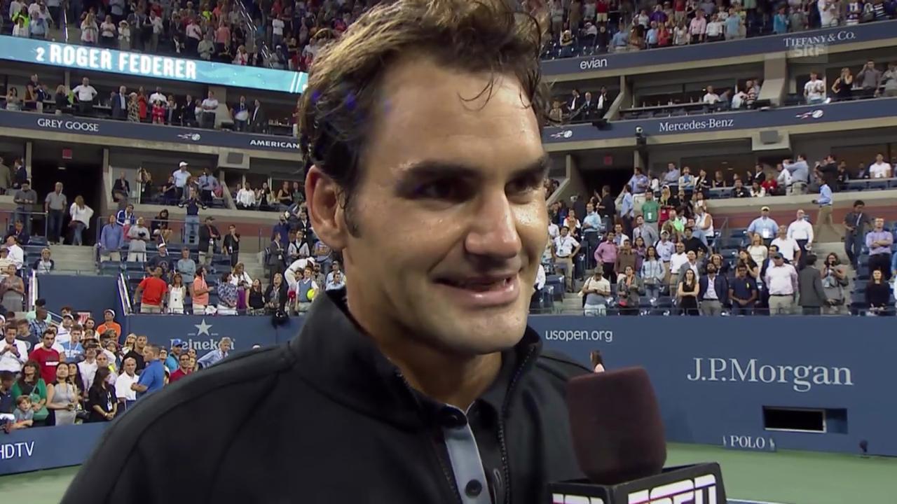 Platzinterview mit Roger Federer