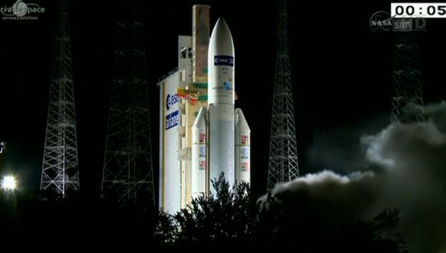 Video «Start des Raumtransporters ins All» abspielen