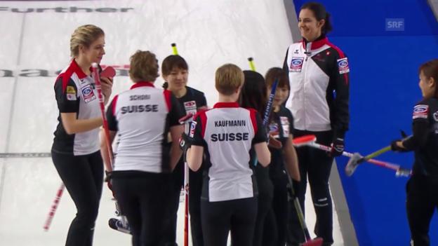 Video «Die Schweizerinnen stehen an der Curling-WM im Final» abspielen