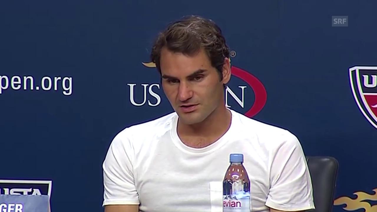 Tennis: US Open, Medienkonferenz Roger Federer