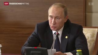 Video «Putin rechtfertigt Syrienpolitik erneut» abspielen