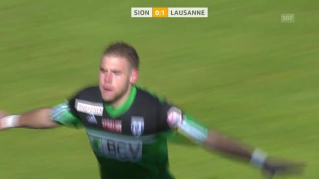 Video «Fussball: Super League, Sion-Lausanne («sportlive», 9.2.2014)» abspielen
