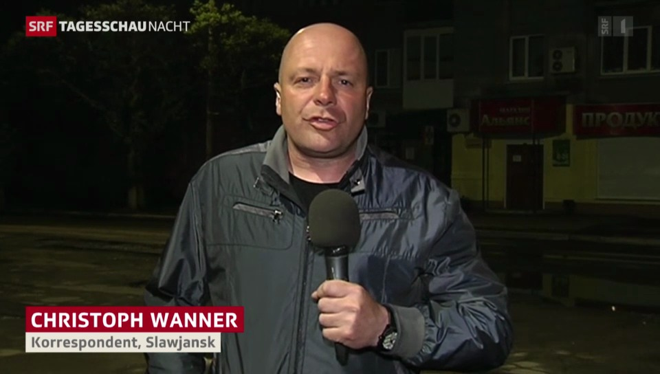 SRF-Korrespondent Wanner aus Slawjansk