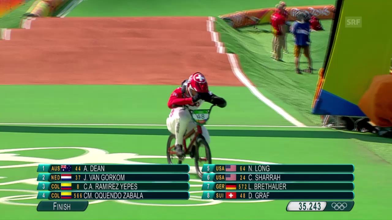 Der 1. Halbfinal-Run von David Graf