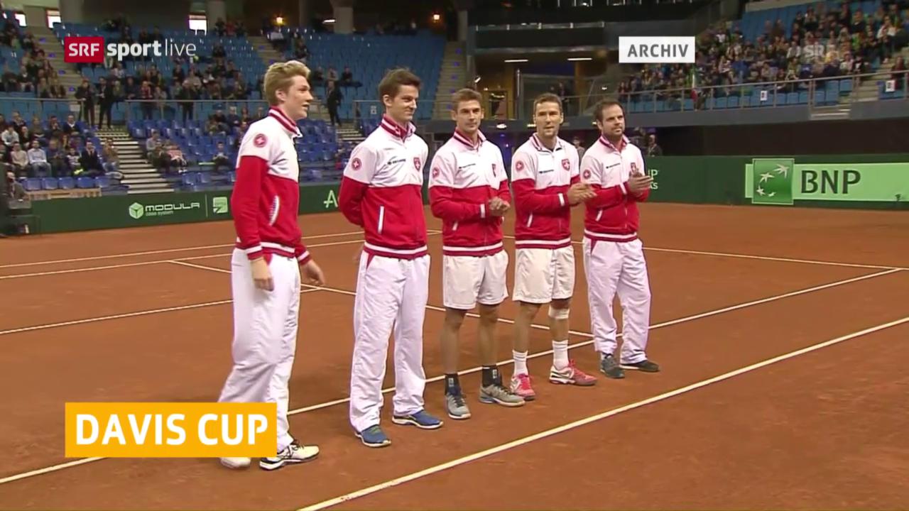 So starten die Schweizer in die Davis-Cup-Aufgabe