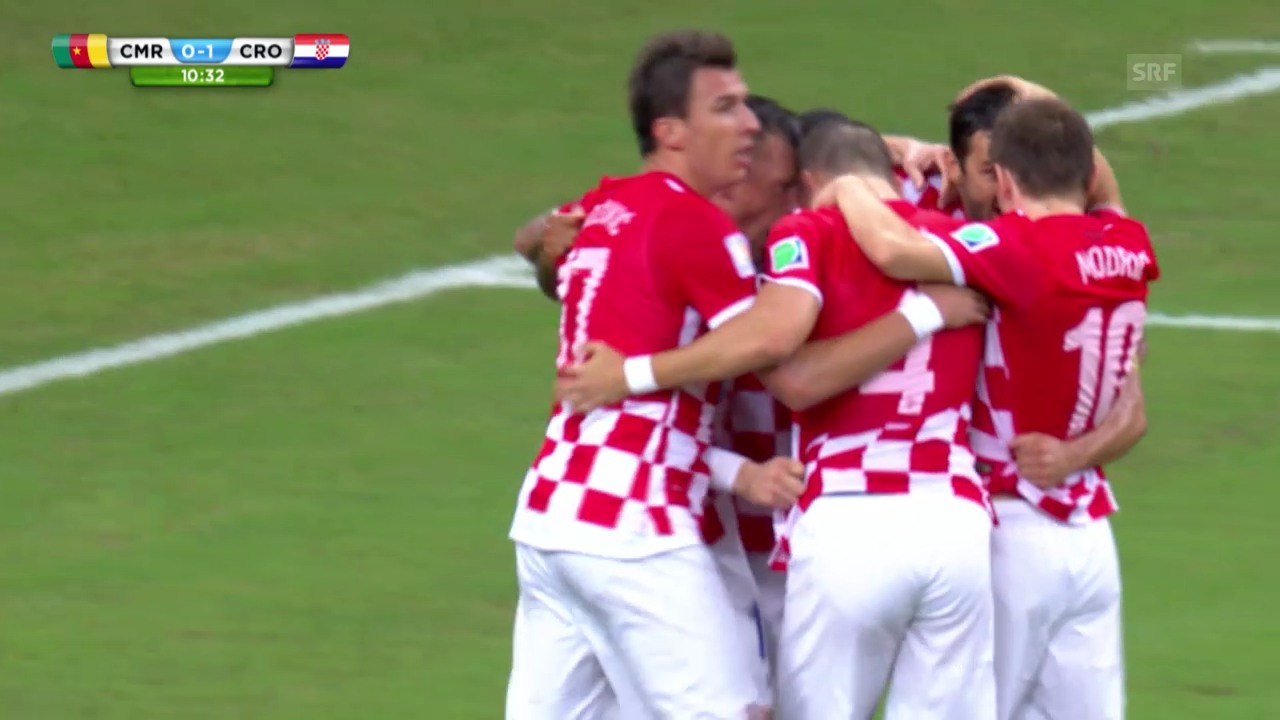 Fussball: WM 2014, CMR-CRO, Highlights