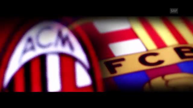 Fussball: Milan gegen Barcelona
