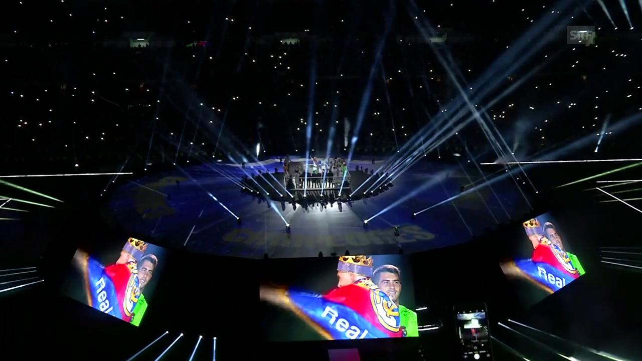 Licht-Show und Feuerwerk: Real macht im Stadion Party