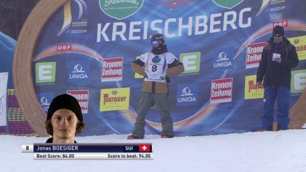 Video «1. Snowboard: Freestyle-WM – Slopestyle 3. Final-Lauf Jonas Boesiger» abspielen