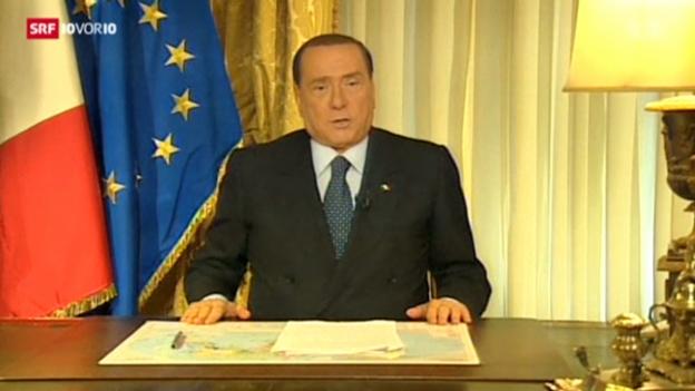 Video «Reaktionen nach Berlusconis Verurteilung» abspielen
