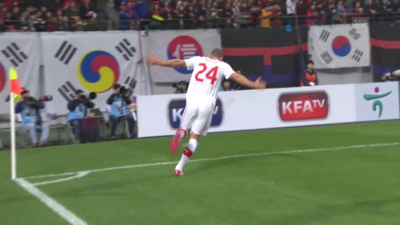 Fussball: Nationalmannschaft, Südkorea-Schweiz, Tor Kasami