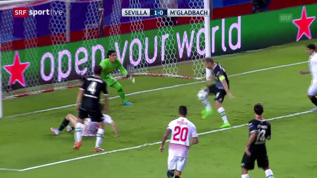 Fussball: Champions League, Zusammenfassung Sevilla - Mönchengladbach