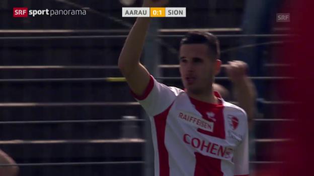 Video «Fussball: Super League, Aarau-Sion» abspielen