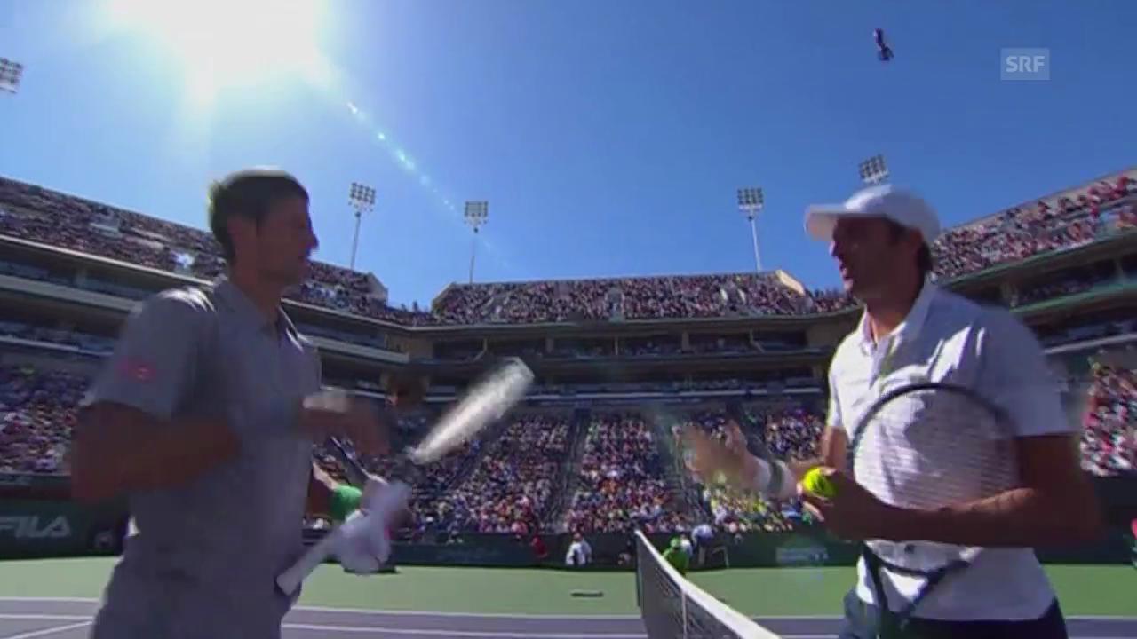 Tennis: Viertelfinal Indian Wells, Djokovic - Benneteau (unkommentiert)